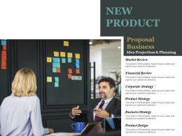 New Product Proposal Business Idea Projection And Planning