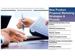 New Product Proposal Marketing Strategies And Process