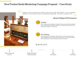 New Product Radio Marketing Campaign Proposal Case Study Ppt Powerpoint Presentation Grid