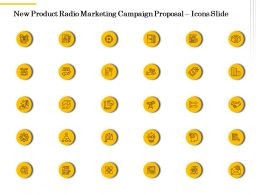 New Product Radio Marketing Campaign Proposal Icons Slide Ppt Powerpoint Pictures