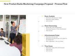 New Product Radio Marketing Campaign Proposal Process Flow Ppt Powerpoint Shapes