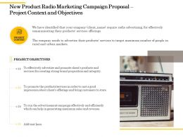 New Product Radio Marketing Campaign Proposal Project Context And Objectives Ppt Aids