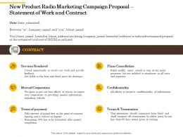 New Product Radio Marketing Campaign Proposal Statement Of Work And Contract Ppt Model