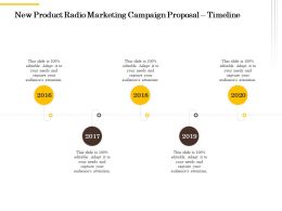New Product Radio Marketing Campaign Proposal Timeline Ppt Powerpoint Structure