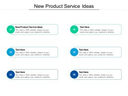 New Product Service Ideas Ppt Powerpoint Presentation Layouts Rules Cpb