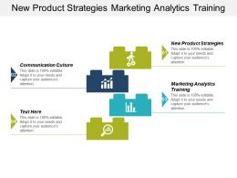 New Product Strategies Marketing Analytics Training Communication Culture Cpb