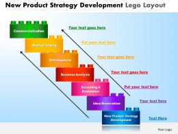 New Product Strategy Development Lego Layout Powerpoint Slides And Ppt Templates DB