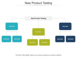 New Product Testing Ppt Powerpoint Presentation Infographics Slides Cpb