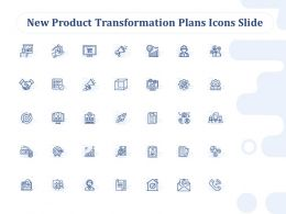 New Product Transformation Plans Icons Slide Ppt Powerpoint Presentation Portfolio Graphics
