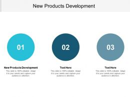 New Products Development Ppt Powerpoint Presentation Gallery Model Cpb
