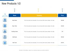 new products table factor strategies for customer targeting ppt demonstration