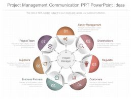 New Project Management Communication Ppt Powerpoint Ideas