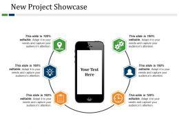 New Project Showcase Powerpoint Slide Design Ideas