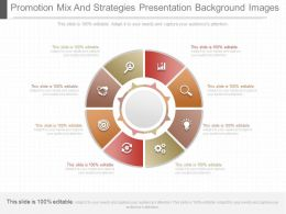New Promotion Mix And Strategies Presentation Background Images