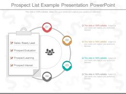 New Prospect List Example Presentation Powerpoint