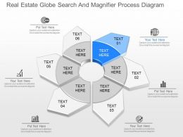 new Real Estate Globe Search And Magnifier Process Diagram Powerpoint Template