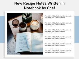 New Recipe Notes Written In Notebook By Chef
