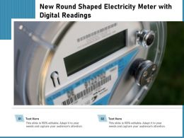 New Round Shaped Electricity Meter With Digital Readings