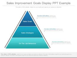 New Sales Improvement Goals Display Ppt Example