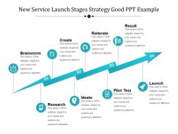 New Service Launch Stages Strategy Good Ppt Example