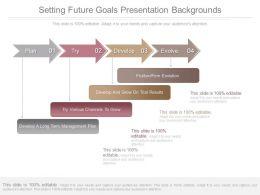 New Setting Future Goals Presentation Backgrounds
