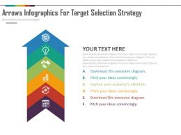 new Six Staged Arrow Infographics For Target Selection Strategy Flat Powerpoint Design