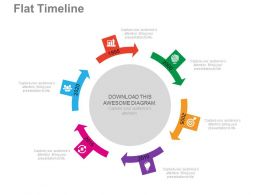 new Six Staged Circle For Timeline Formation Flat Powerpoint Design