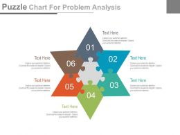 new Six Staged Puzzle Chart For Problem Analysis Flat Powerpoint Design