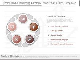 New Social Media Marketing Strategy Powerpoint Slides Templates