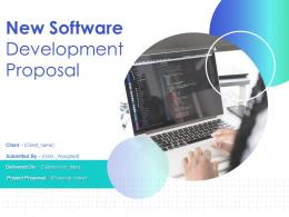 New Software Development Proposal Powerpoint Presentation Slides