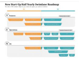 New Start Up Half Yearly Swimlane Roadmap