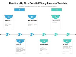 New Start Up Pitch Deck Half Yearly Roadmap Template