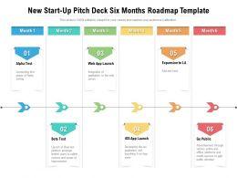 New Start Up Pitch Deck Six Months Roadmap Template