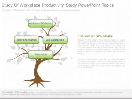 New Study Of Workplace Productivity Study Powerpoint Topics