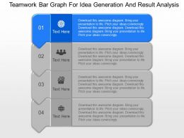 new Teamwork Bar Graph For Idea Generation And Result Analysis Powerpoint Template
