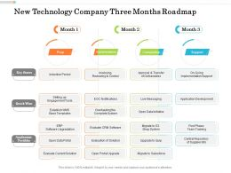 New Technology Company Three Months Roadmap