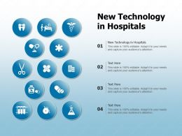 New Technology In Hospitals Ppt Powerpoint Presentation Show Demonstration