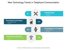 New Technology Trends In Telephone Communication