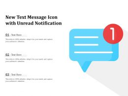 New Text Message Icon With Unread Notification