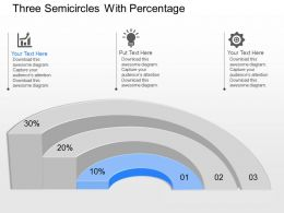 new Three Semicircles With Percentage Powerpoint Template