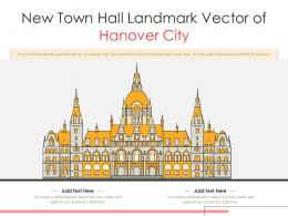 New Town Hall Landmark Vector Of Hanover City Powerpoint Presentation PPT Template