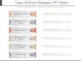 New Types Of Brand Strategies Ppt Slides