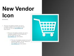 New Vendor Icon Powerpoint Slide Backgrounds