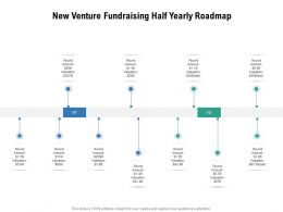 New Venture Fundraising Half Yearly Roadmap