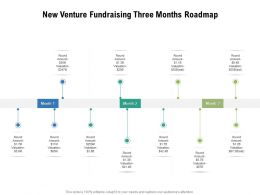 New Venture Fundraising Three Months Roadmap