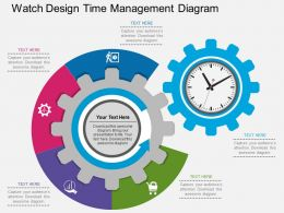 new_watch_design_time_management_diagram_flat_powerpoint_design_Slide01