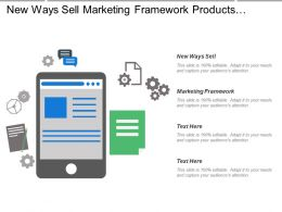 New Ways Sell Marketing Framework Products Services Competitive Positions