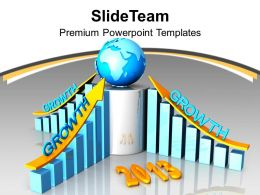 New Year 2013 Global Business Growth PowerPoint Templates PPT Backgrounds For Slides 0113