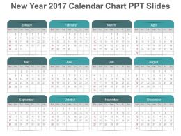 new year 2017 calendar chart ppt slides
