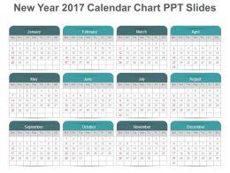 new year 2017 calendar chart ppt slides